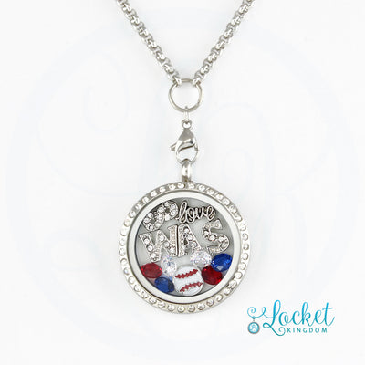Washington Baseball Charm Necklace