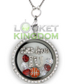 Infinity Love Indiana Basketball Locket