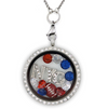 New York Football Charm Necklace