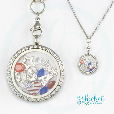 Love USA Charm Necklace
