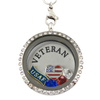 Air Force Veteran Charm Necklace