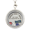 Air Force Daughters Brag Charm Necklace