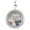 Air Force Mother In Laws Brag Charm Necklace