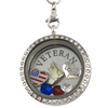 Love My Army Veteran Charm Necklace