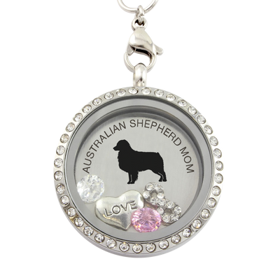 AUSTRALIAN SHEPHERD MOM Charm Necklace
