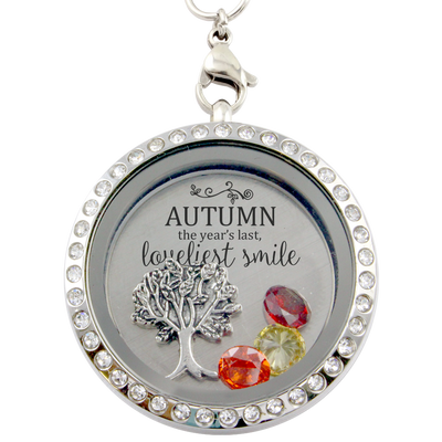Autumn's Smile Charm Lockets