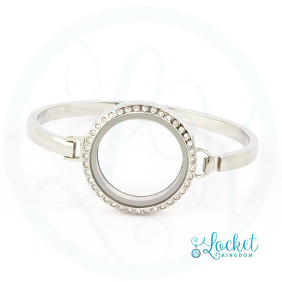 Stainless Steel Locket Bangle Bracelet