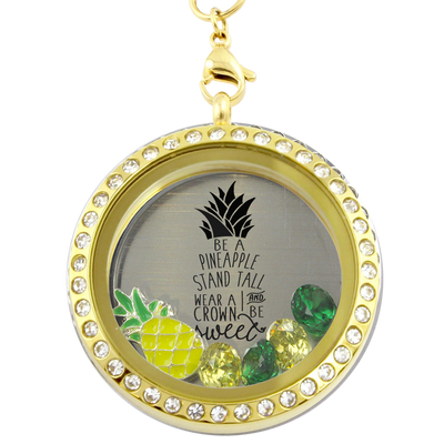 Be a Pineapple Charm Locket