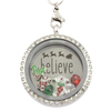 """Believe"" Christmas Charm Necklace"