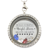 Bold Stripes, Bright Stars, Brave Hearts Locket Necklace
