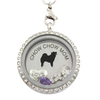 Chow Chow Mom Charm Necklace