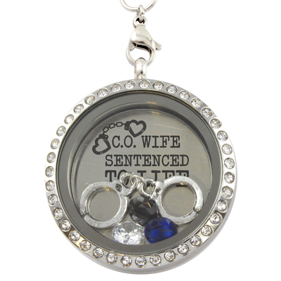 Correctional Officers Wife Locket Necklace
