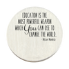Education is the Most Powerful Weapon Backplate