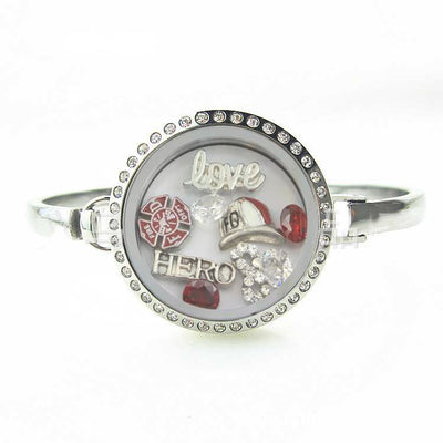 Fireman Hero Locket Bracelet