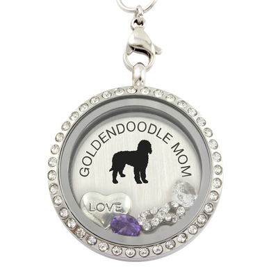 Goldendoodle Mom Charm Necklace
