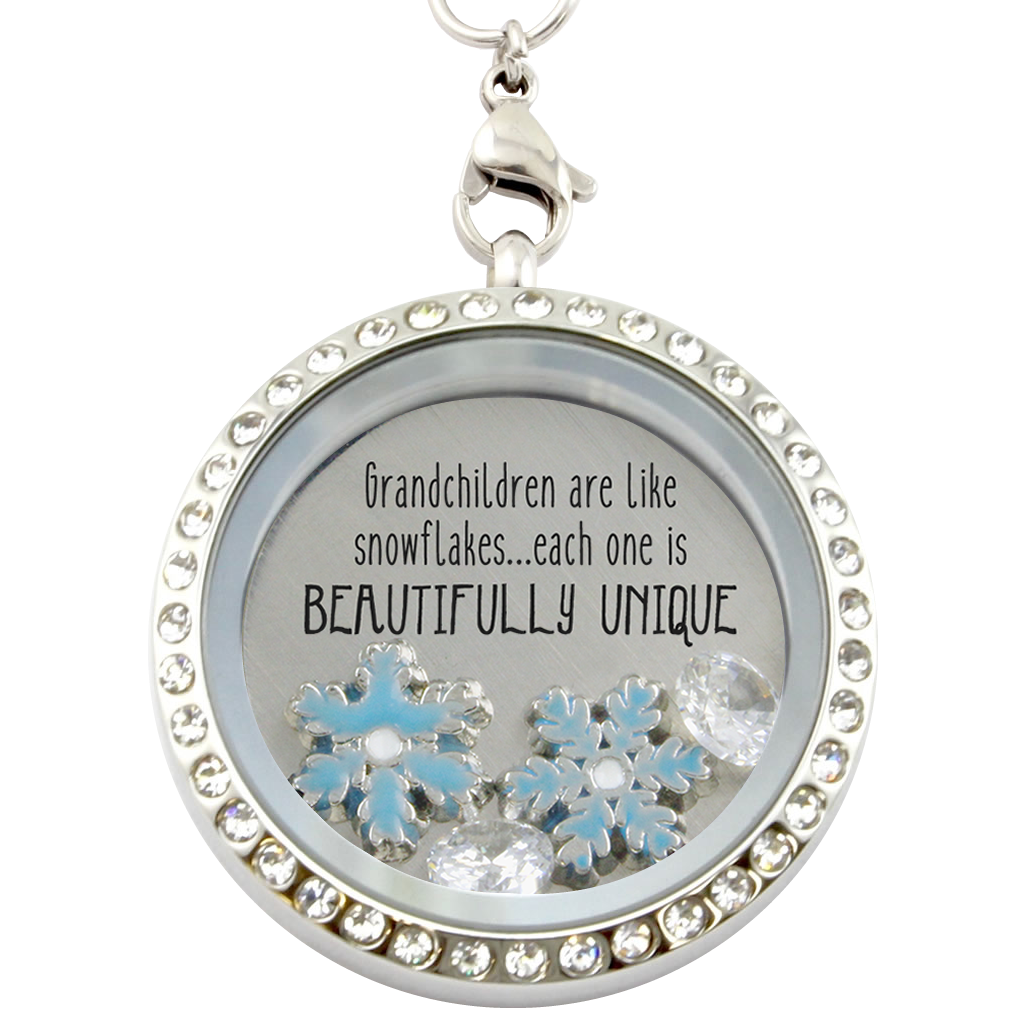 grandma mimi sterling lockets silver snowflake nana grandmother img charm necklace product
