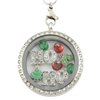 """HO HO"" Christmas Charm Necklace"