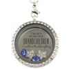 Grandchildren Light Up the Night Sky Locket