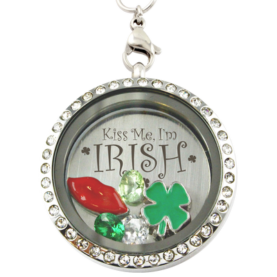 St Patrick's Day Kiss Me I'm Irish Locket