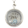 """Let It Snow"" Christmas Charm Necklace"