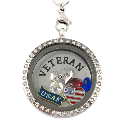 Love My Air Force Veteran Charm Necklace