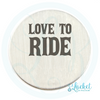 Love To Ride Back Plate