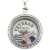 Proud Wife- Marine Veteran Husband Necklace