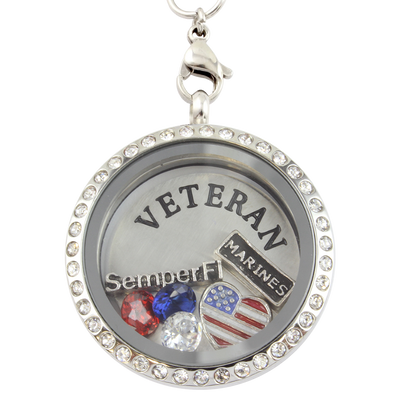 Marine Veteran Necklace