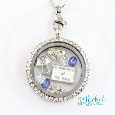 In Memory Of My Mom Charm Locket