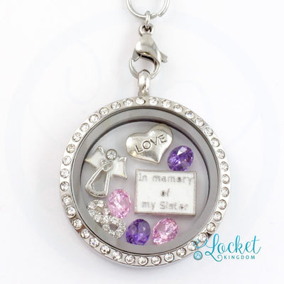 In Memory Of My Sister Charm Locket