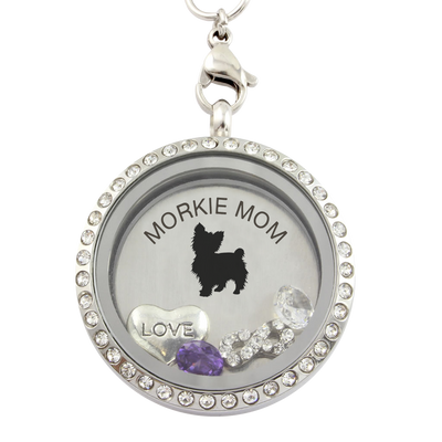 MORKIE MOM Charm Necklace