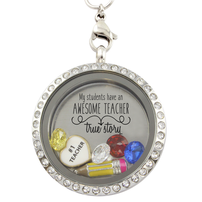 Students Have an Awesome Teacher Charm Necklace
