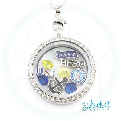 Navy Hero Locket