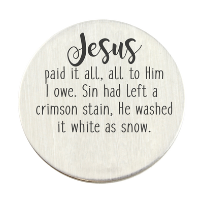Jesus Paid it All Charm Locket