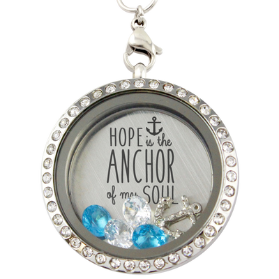 Hope is the Anchor Charm Locket