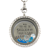 Peace in a Troubled Sea Charm Locket