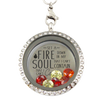 Fire in My Soul Charm Locket