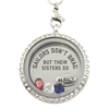 Navy Sisters Brag Charm Necklace