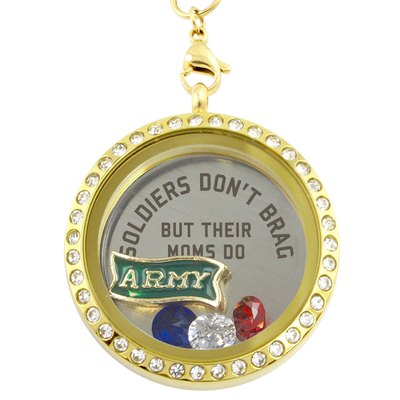 Army Moms Brag Charm Necklace