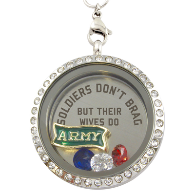 Army Wives Brag Charm Necklace
