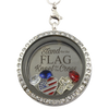 Stand for the Flag, Kneel For the Cross Locket Necklace