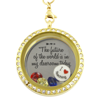 A Teacher's Classroom Charm Necklace