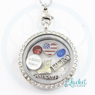 USMC Mom Charm Locket