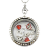 Valentines Love Heart Charm Necklace