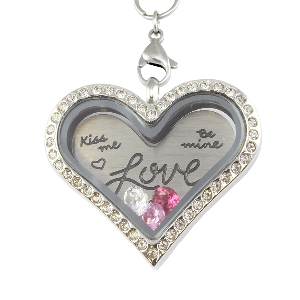 Valentines Love Charm Heart Necklace