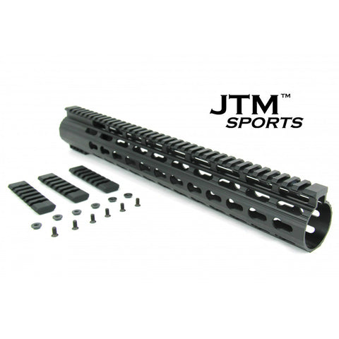 "JTM Sports 15"" Keymod Handguard Clamp-On Style w/ 3 Piece Rail Attachment"
