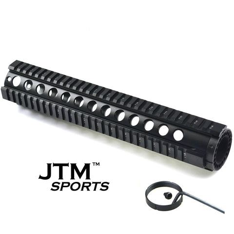 "JTM Sports 12"" Tactical T-Series 4/15 Free-Float Quad Rail"