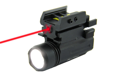 Tacfire 180 Lumen Rifle/Pistol Flashlight & Laser Combo