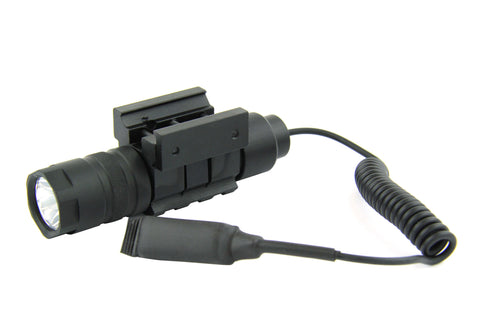 Tacfire 150 Lumen Rifle/Shotgun Flashlight with Pressure Switch & Picatinny/Weaver Rail