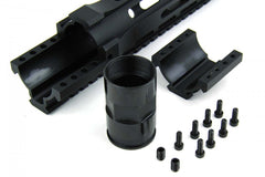 "Tacfire AR15 12"" Ultra-Slim Clamp-On Free-Float Quad Rail"